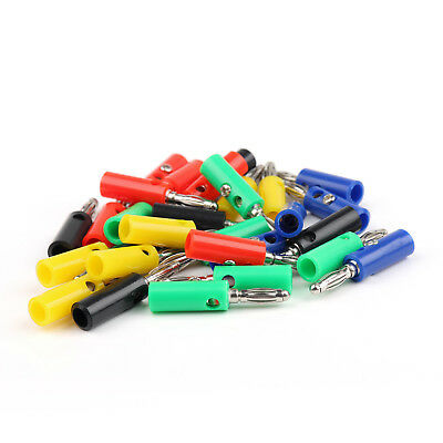 30 Pcs 4mm Banana Plug 5 Color For Power Amplifiers Binding Post BS UE