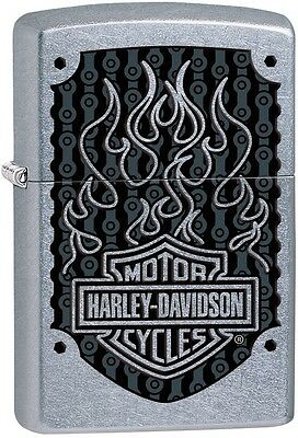Zippo 2016 Catalog NEW HD Harley Davidson Cycles Flames Street Chrome 29157