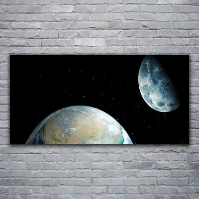Tulup Glass print Wall art 120x60 Image Picture Night Moon