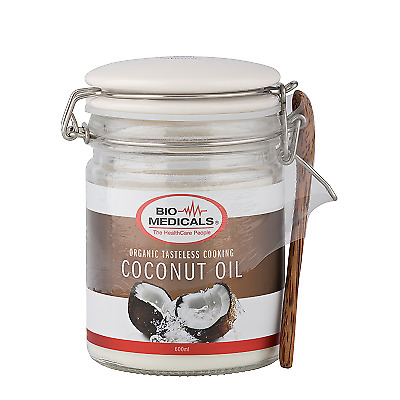 Bio-Medicals Organic Tasteless Cooking Coconut Oil 600ml