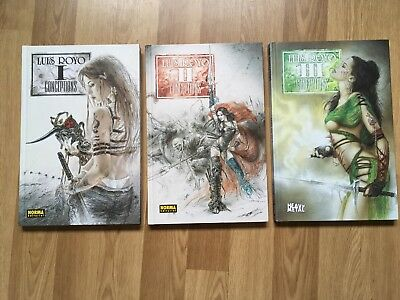 3-tlg. Paket Louis Royo Conceptions 1, 2 + 3 Tattoo Bücher Kunst