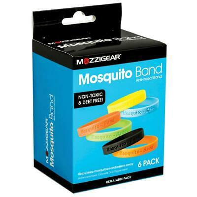 New 6 Pack Mosquito-Band Anti-Insect Band Insect Repellent Waterproof Durable