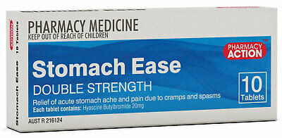 Pharmacy Action Stomach Ease Tab X 10 (Generic for BUSCOPAN FORTE)