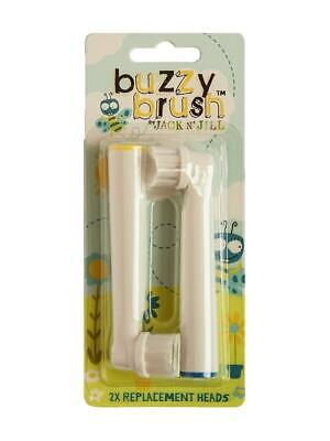 Jack N' Jill Buzzy Brush (Twin Pack) Replacement Heads for Electric Toothbrush