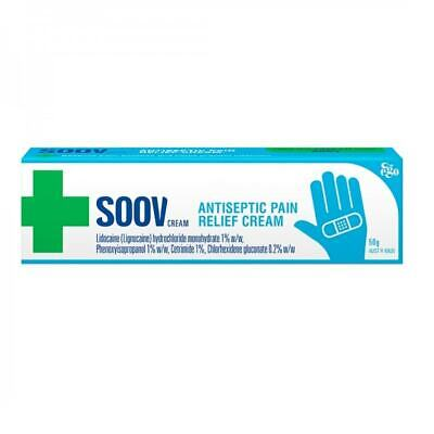 50g Ego Soov Antiseptic Pain Relief Cream Prevent Infection Soothes Damaged Skin
