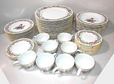 Block Spal Whimsy Christmas Dinnerware, 53 Pc Set, 1992, Made In Portugal