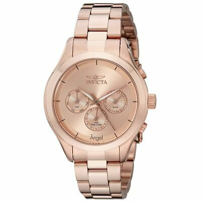 Invicta 12467 Lady's Rose Gold Steel Bracelet Rose Gold Dial Watch