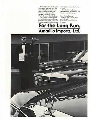 Amarillo Imports LTD Ad from the early 80s Mercedes Benz AMARILLO, TEXAS