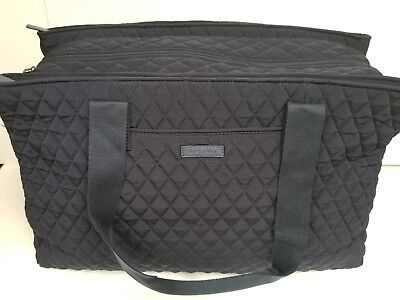NEW Vera Bradley Classic Navy Triple Compartment Travel Bag Tote FREE SHIPPING