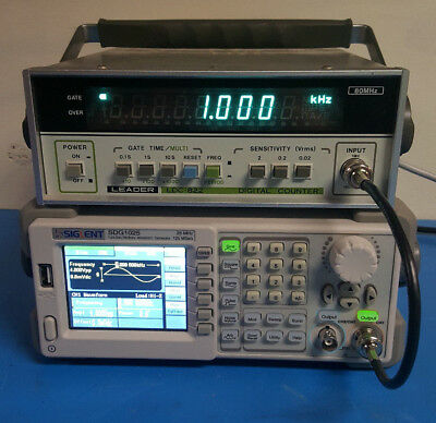 QTY (1) - Leader LDC-822 Digital Counter 80MHz TESTED