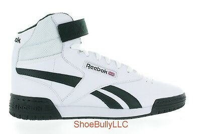 SIZE MEN'S 9 Reebok Ex O Fit Hi Black Mens Leather High Top