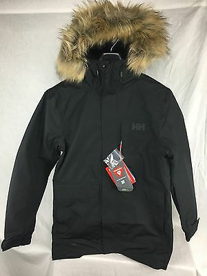 New Helly Hansen Dubliner Parka Black Insulated Waterproof Breathable M Mens