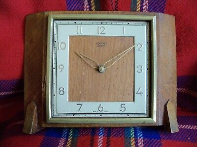 Smiths 8 Day mantle clock - 4 jewel movement - non-runner, for spares or repair!
