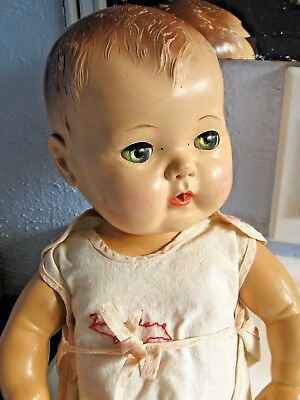 Vintage 1950 Tiny Tears Baby Molded Doll Original Outfit- Me Charater DOLL