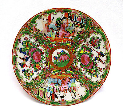 Antique Chinese Export Porcelain Plate Canton Famille Rose ~ Late Qing Excellent