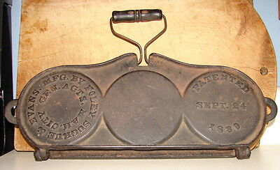 Antique Foley Sugrue & Evans Three Section Cast Iron Griddle-Pat 1889