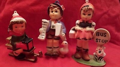 Lot of 3 Kurt S Adler / Hummel Style Ornaments