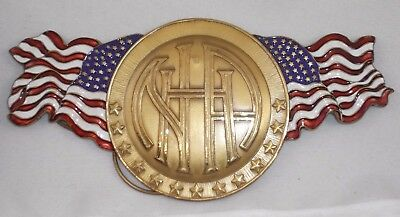 Unused Antique Brass & Enamel National Highways Association Car Topper Badge