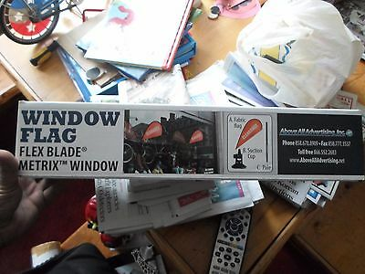 "NEW Metrix Window Flag Flex Blade ""Entrance"" Above All Advertising SEALED"
