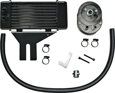 Jagg Oil Coolers Lowmount 10-Row Oil Cooler System (Black) 750-2500