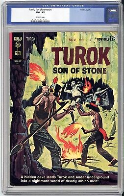 Turok Son Of Stone #34  Cgc Nm 9.2 - Very Old Label - Gorgeous Book! 1963