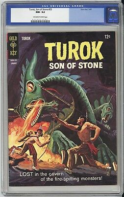 Turok Son Of Stone #55  Cgc Nm 9.2 - Very Old Label - Gorgeous Book! 1966