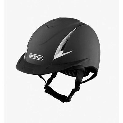 John Whitaker Ngr Sparkly Unisex Safety Wear Riding Hat - Black All Sizes