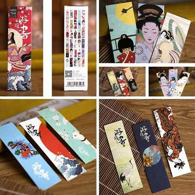 30pcs/lot Vintage Japanese Style Bookmark Paper Book Markers Page Stationery