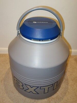 Taylor Wharton 8XTL Cryogenic Refrigerator Storage Dewar Tank with 6 Canisters