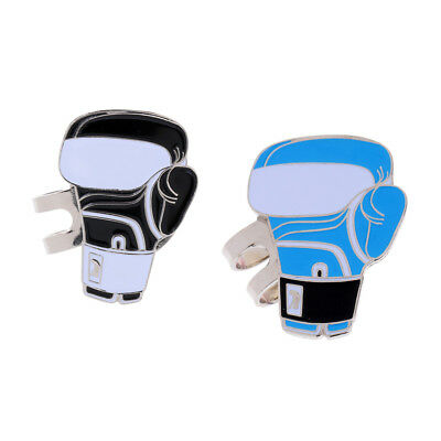 Sturdy Boxing Glove Magnetic Hat Clip Golf Ball Marker Fit for Cap Visor