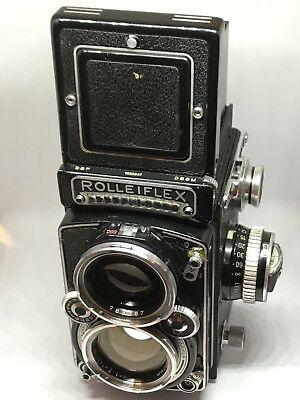 Rolleiflex 2.8E80 mm Planar with Meter Nice condition 1956-1959 Vintage