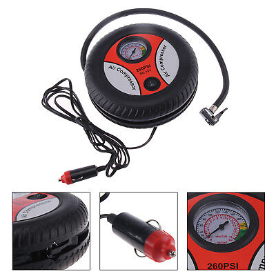 Portable Electric Mini 12V Auto Air Compresseur Pompe Pneu Inflateur 260 PSI FR