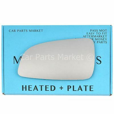 For Vauxhall Astra H 04-08 Left side Flat Electric wing mirror glass with plate