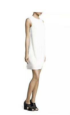 Helmut Lang Apron Mini Dress Sz 6 NWT $710.00 White  IRRG 4 J