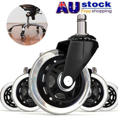 "AU 1/2/5pcs Office Chair Caster Wheels Replacement Standard Size 3"" Heavy Duty"