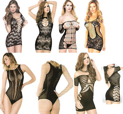 Body Stocking Bodysuit Catsuit Lingerie Camisole Bodies Teddy Basque Lace Sheer