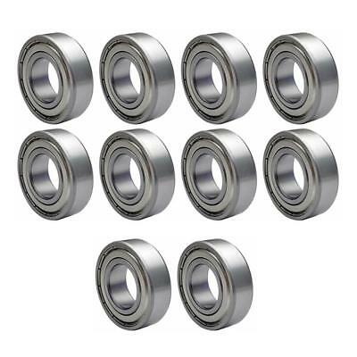 10pcs Flanged Bearing Mechanical Carbon Steel Shaft Ball Bearings for 3D Printer