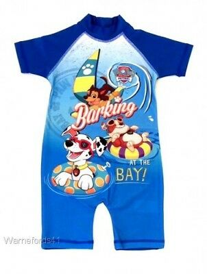 Boys PAW PATROL surf suit, all in one, swim suit 18mths - 5yrs