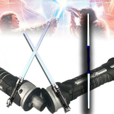 COOL Star Wars Lightsaber LED Flashing Saber Sword Toys Cosplay Weapons 2 PCS