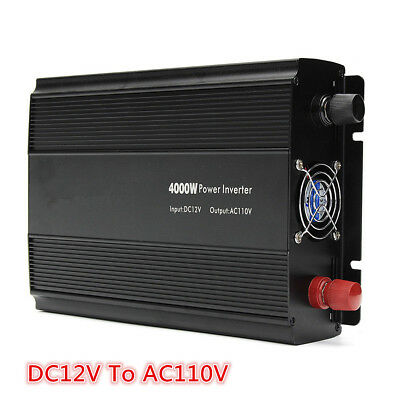 Car 4000W Modified Sine Wave Power Inverter DC12V To AC220V Converter 8000W Peak