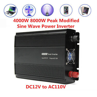 4000W 8000W Peak DC12V to AC110V Converter Modified Sine Wave Car Power Inverter
