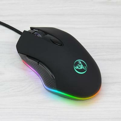 Adjustable 4800 DPI Programmable USB Wired Gaming Mouse Gamer Mice For PC