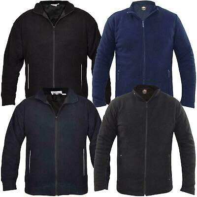 New Mens Polar Fleece Jacket Full Zipper Tracksuit Top With Hand Pockets