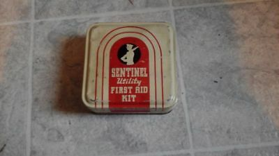 vintage Sentinel utility first aid kit Empty
