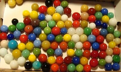110 Vintage Old Solid Color Marbles Beautiful Group Collect Play Display Pretty