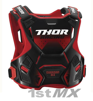 2018 Thor Guardian MX Race Motocross Chest Protector Body Armour Red Adults
