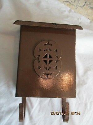 Vintage Babco Steel Mail Box with Newspaper Holder