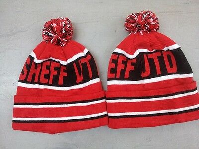 Sheffield United Pom Pom Football Beanie Hat Woolly Hat Knitted Pom Pom Hat