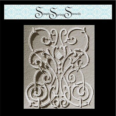 Wall Stencil, Plaster Stencil, Furniture Stencil,  Carina Frieze