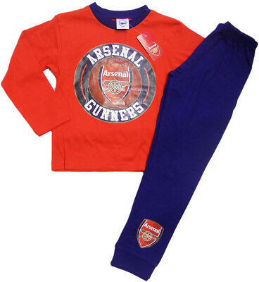 NEW Official Arsenal FC AFC Older Boys Pyjamas Pajamas 4 to 12 years Football